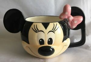 DISNEY-STORE-3D-MINNIE-MOUSE-PINK-BOW-COFFEE-MUG-CUP