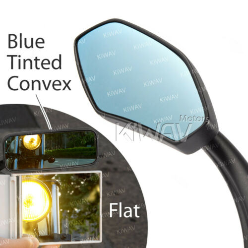 KiWAV SALE mirror metal black for Honda Suzuki Kawasaki BMW Ducati bike US STOCK