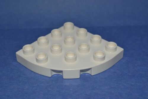 white wedge parts combined shipping lot of 2 white Duplo specialty blocks