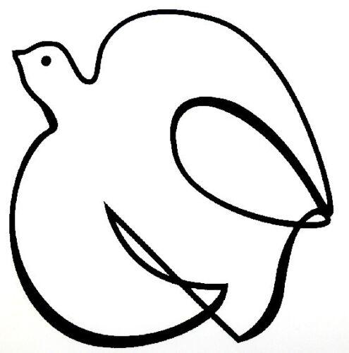 Window sticker Car RV  Spiritual  Outdoor Vinyl Decal Pure White Dove Decal