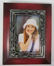 "3-1/2""x5"" Petralite Maroon Photo Album w/50 4""x6""Roses on Trellis (Item # 1421)"