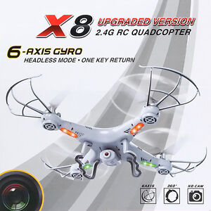 4GB X8 2MP HD Camera 2.4Ghz 6-Axis UAV Explorer Quadcopter Drone UFO Gyro RC