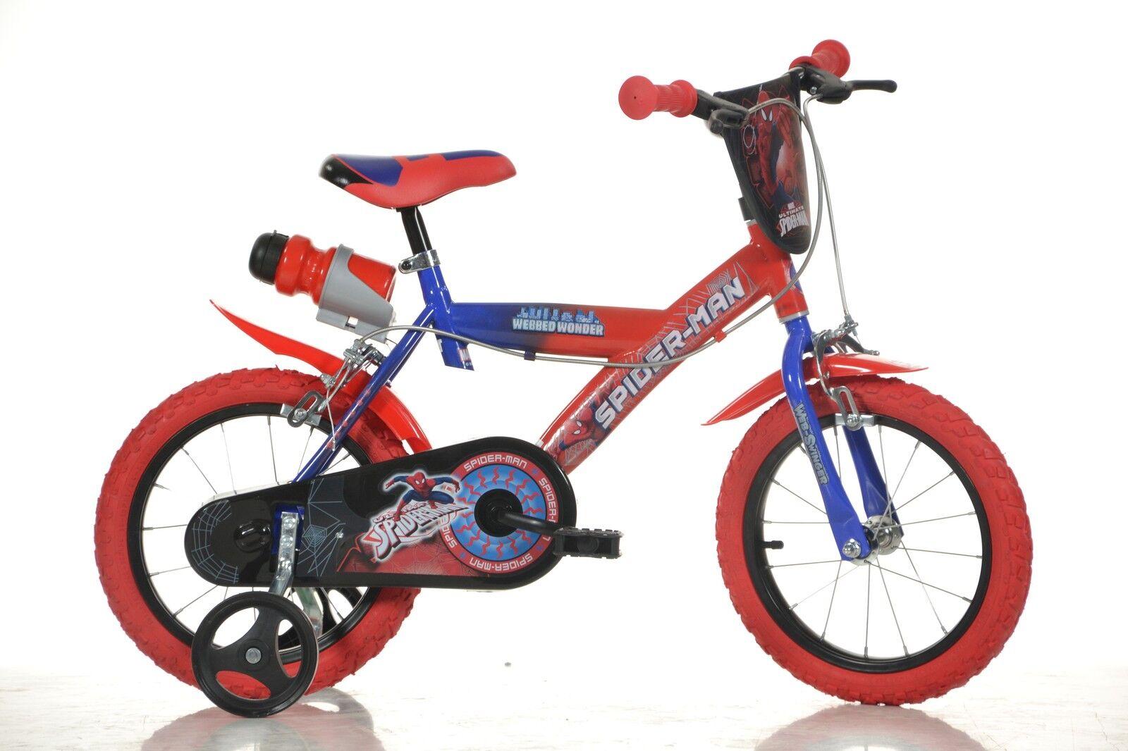 14 Zoll Kinderfahrrad Spiderman Original Original Original Lizenz Kinderrad Fahrrad Spielrad 8b1095