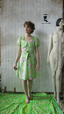Modesto Peggy Lane Vestito Abito Estivo Puff Manica Verde Chiaro 70 Ertruevintage 70s Ladies Dress-e 70s Ladies Dress It-it Mostra Il Titolo Originale