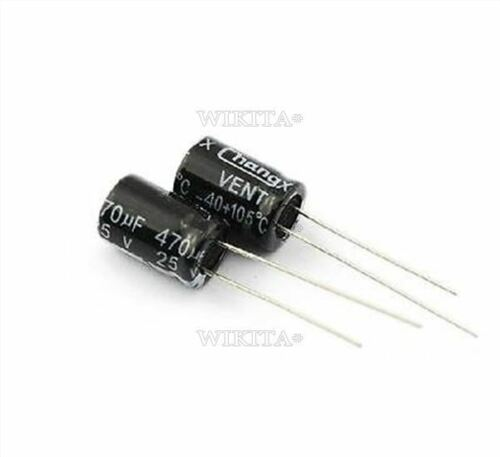 10PCS Radial Electrolytic Capacitor 470UF 25V 8X12MM