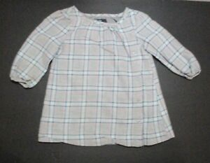 INFANT-GIRLS-BABY-GAP-GRAY-PINK-amp-SEAFOAM-GREEN-PLAID-SHIFT-DRESS-SIZE-6-12-MON