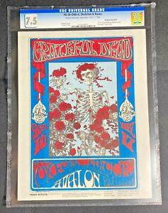 FD-26 Grateful Dead '66 Original Handbill Skeleton & Roses CGC 7.5 Hard_8s_Magic