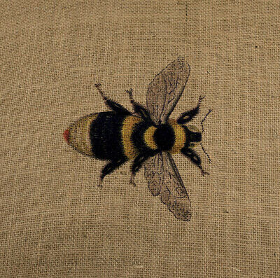 Bee Cotton Fabric Panel Make A Cushion Upholstery Craft