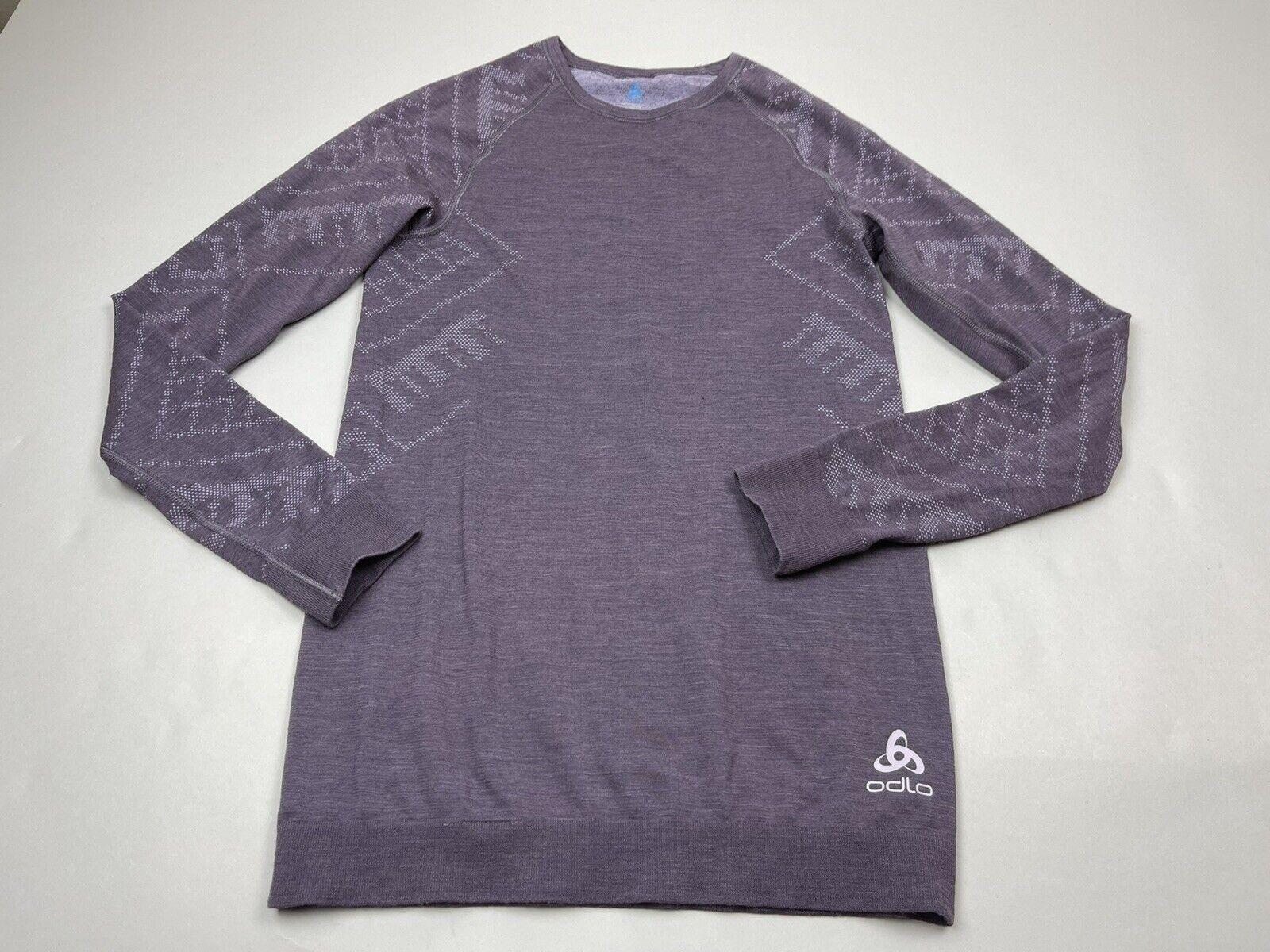 Odlo Merino Blend Warm Base Layer Top Women XS Long Sleeve Shirt