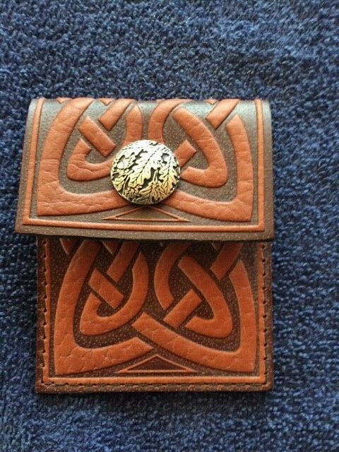 Leather coin purse or Ear bud case or Charger cable holder