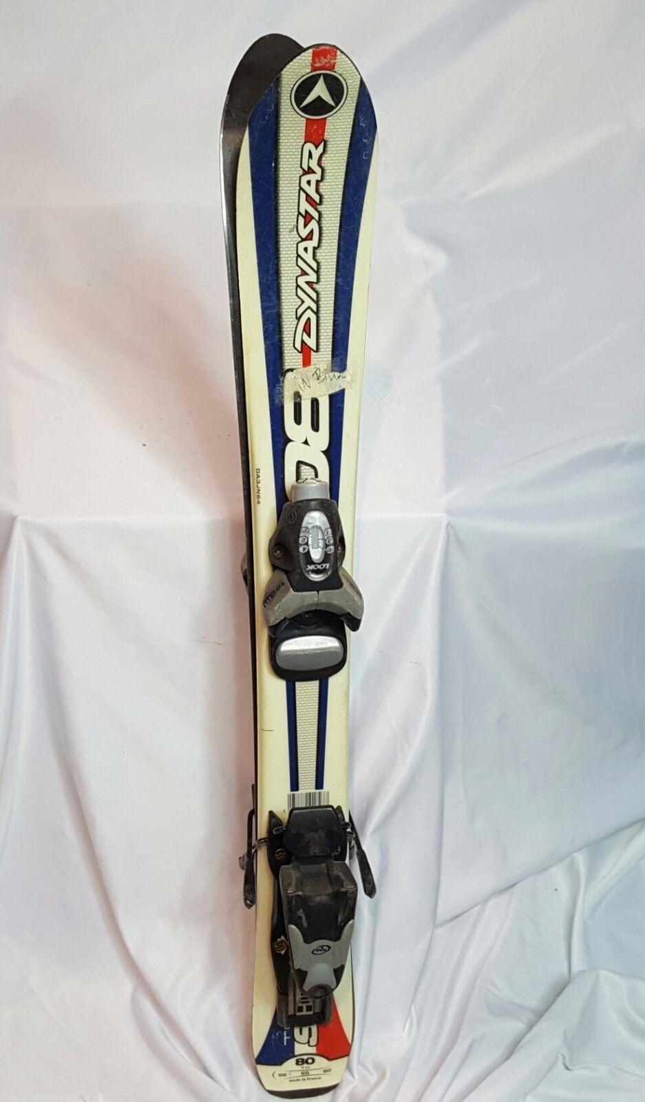 KIDS SKI Dynastar JR 80cm ski, USED LOOK ski bindings adjust to fit boots