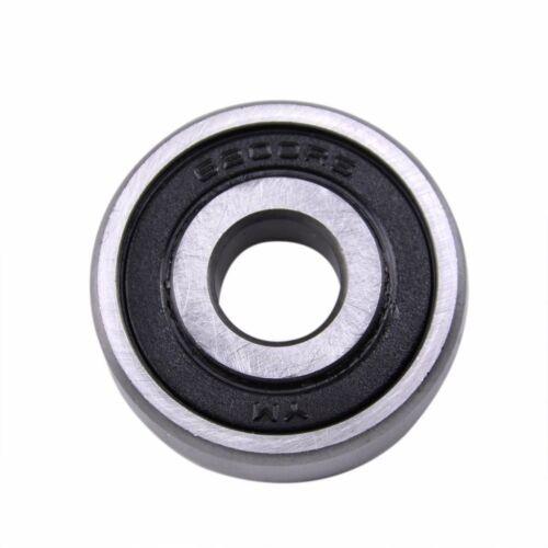 10mm x 30mm x 9mm Deep Groove Roller-Skating Ball Wheel Bearings 6200RS