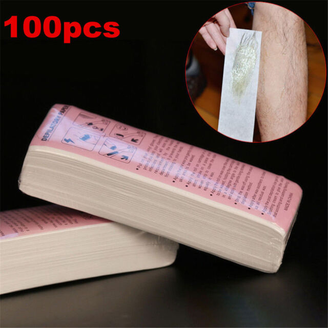 100pcs Depilatory Wax Strips Non Woven Hair Removal Paper Epilator