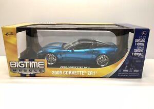 Jada-Big-Time-Musculo-2009-Chevrolet-Corvette-ZR1-C6-coche-modelo-escala-1-18-Azul