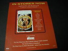 BLACK SABBATH Tribute NATIVITY IN BLACK II 2000 Promo Poster Ad mint condition