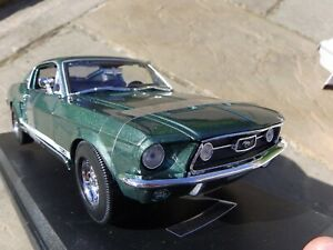Maisto-1-18-1967-V8-Ford-Mustang-Gta-Fastback-cada-detalle-de-coche-del-musculo-Modelo-Juguete