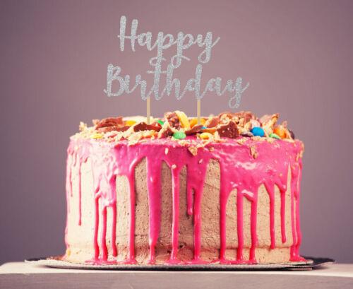 Harry Potter Style Personnalisé double face paillettes Cake Topper Anniversaire