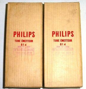 Paire-power-output-pentode-814-A-VT-154-Philips100-OK-NOS-NIB-numerotee