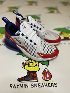Air Max 270 Usa Red White Blue Ds With Box Gs 6y Authentic Free Shipping Ebay