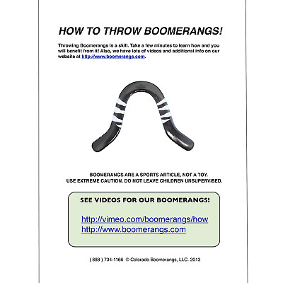 Boomerangs.com Another Great Boomerang for Sale from Colorado Boomerangs Tech Glow in the Dark Boomerang