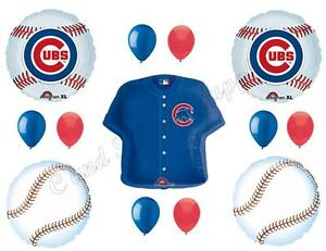 Image Is Loading CHICAGO CUBS BASEBALL Happy Birthday Party Balloons Decoration