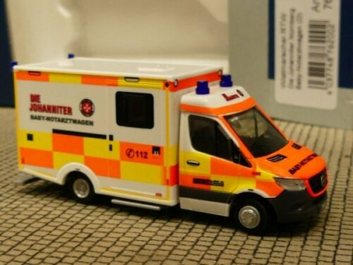 qué Rietze ambulanzfahrzeug RTW la ponte Baby naw nuremberg 76200 1//87