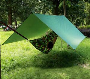 Image is loading Waterproof-C&ing-Tent-Shelter-Rain-Fly-Bivi-Hammock- & Waterproof Camping Tent Shelter Rain Fly Bivi Hammock Tarp Bivouac ...