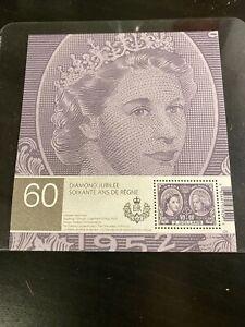 Canada-2012-Souvenir-Sheet-Queen-Elizabeth-II-Diamond-Jubilee-MNH-2-Stamp