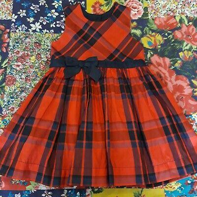 Baby Girls Red Tartan Dress Lace /& Bow Tutu Ribbons Toddlers 3-24 mths /& 2-3 yrs