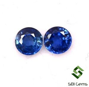Certified-Natural-Blue-Sapphire-Round-Cut-Pair-4-mm-0-55-CTS-Ceylon-Loose-Gems