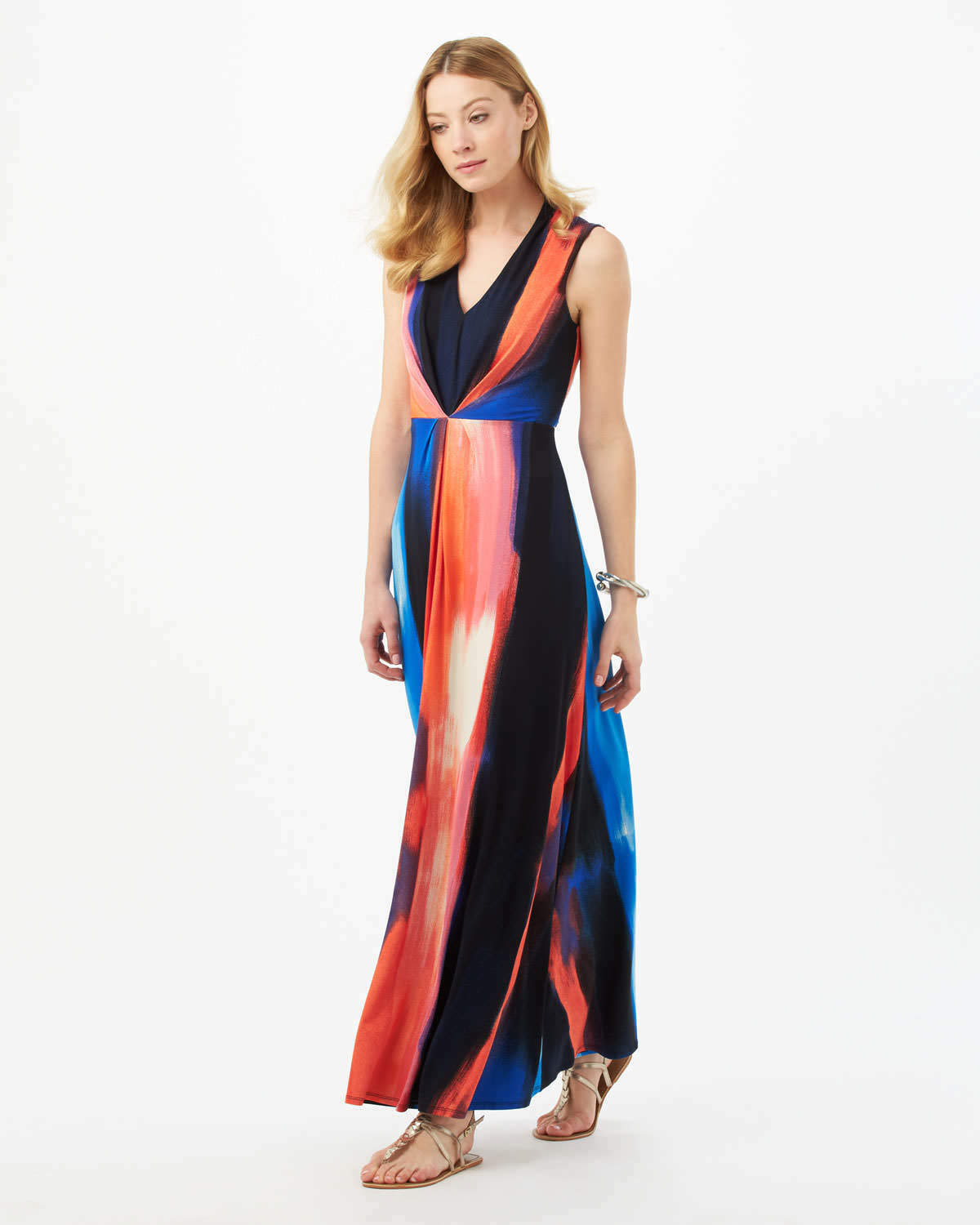 Phase Eight Leona Print Maxi Dress Multi Colourot Größe UK 14 DH089 KK 05