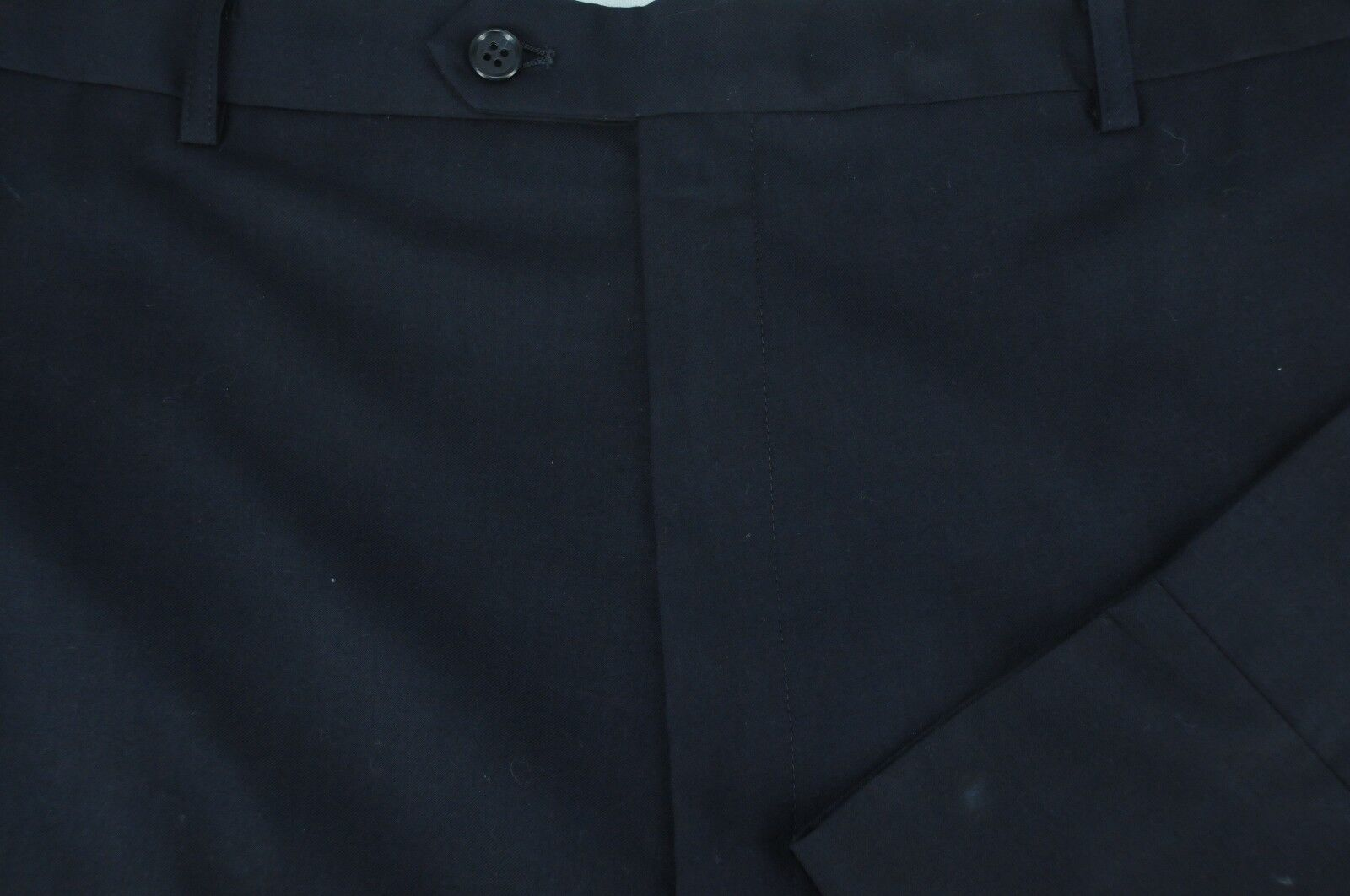 Ralph Lauren Men's Solid Navy Gabardine Flat Front Dress Pants 41 x 32