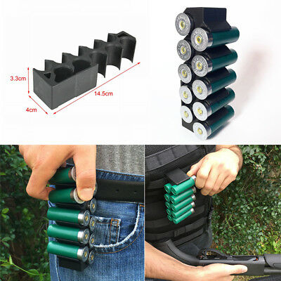 Tactical 10 Rounds Shotgun Shell Holder Ammo Carrier Magazine Pouch for 12G 20G