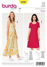 BURDA SEWING PATTERN MISSES' SIMPLE DRESSES HIGH WAIST WRAP LOOK SIZE 8-20 6496
