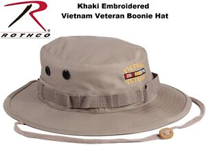 374b1cb9d7901 Image is loading Khaki-Military-Style-Wide-Brim-Vietnam-Veteran-Boonie-