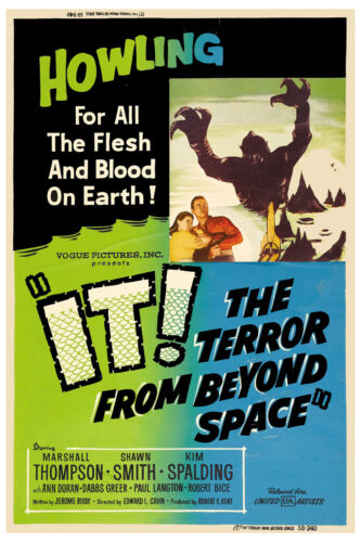 Alternate Movie Poster 1958 1950/'s Sci-Fi The Terror from  Beyond Space It