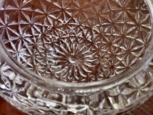 """7-3//4/""""FITTER LARGE CLEAR GLASS CEILING FIXTURE DOME SHADE RAISED DESIGN 9-1//4/""""W"""