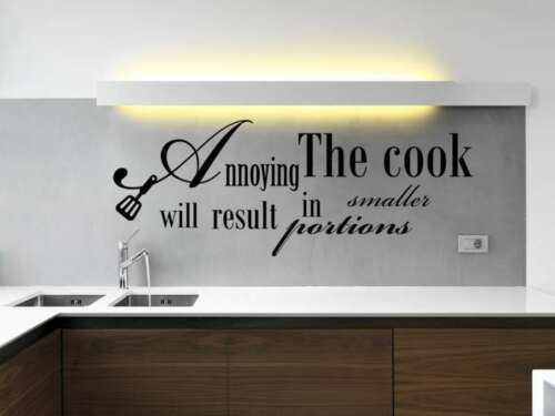 KITCHEN COOK WALL QUOTE VINYL  STCKER COOL DECAL STENCIL MURAL GRAPHIC SAYING