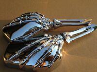 Hand Skull Mirror Harley Heritage Springer Sportster Dyna Glide Softail V Rod C