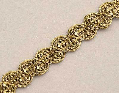 Narrow Metallic Gold Trim  Ribbon Trimming 10 Yards Celtic Knot Vestment sewing