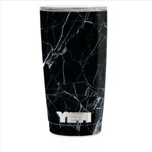 64d33551a97 Skin Decal for Yeti 20 oz Rambler Tumbler Can Cup / Black Marble ...