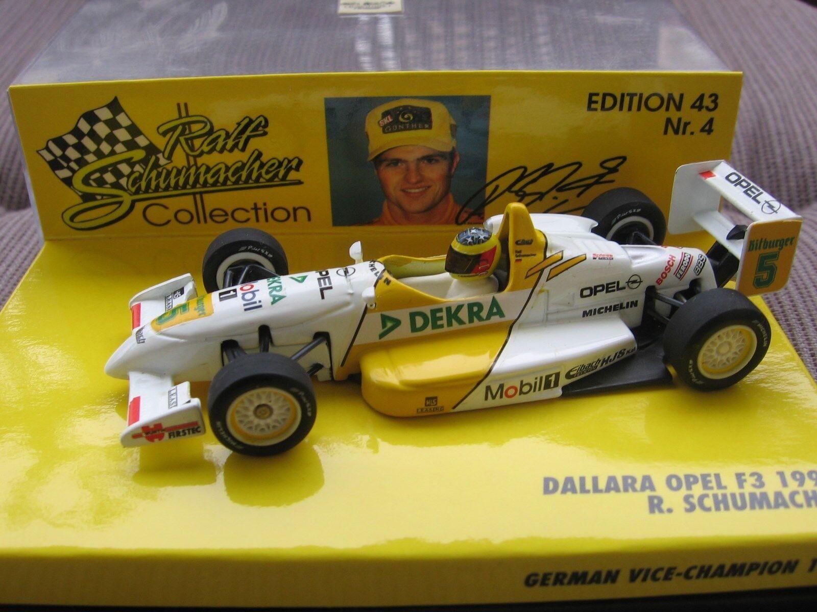 RSC Schumacher F1 Dallara Opel F3 1995 1 43 MINICHAMPS OVP