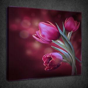 Bouquet DI FIORI TULIPANI DIPINTO ad olio stile di stampa art. a ...