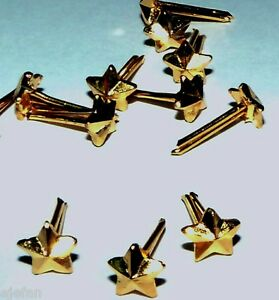 Lot-of-5-Gold-Stars-ribbon-medal-attachments-gold-surface-3-16-034-Mil-Surplus