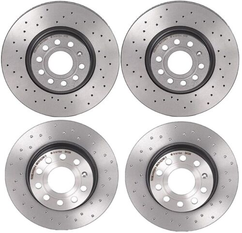 Brembo Xtra Front Rear Coated Drilled Brake Disc Rotors Kit For Passat 2014-2018