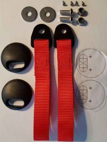 tarjeta de Puerta Coupe ligero efecto carbono paneles 2x BMW E46 M3 330 Seguimiento de coche