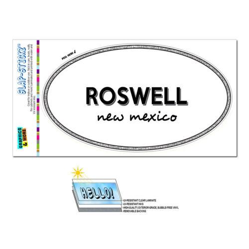 Euro Oval Window Bumper Laminated Sticker New Mexico NM City State Ala Zun