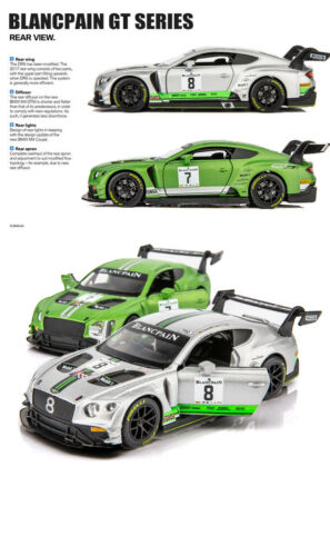 1//32 1:32 Bentley Continental GT3-R AUTO DA CORSA IN LEGA MODELLO Sound /& Light GTA5