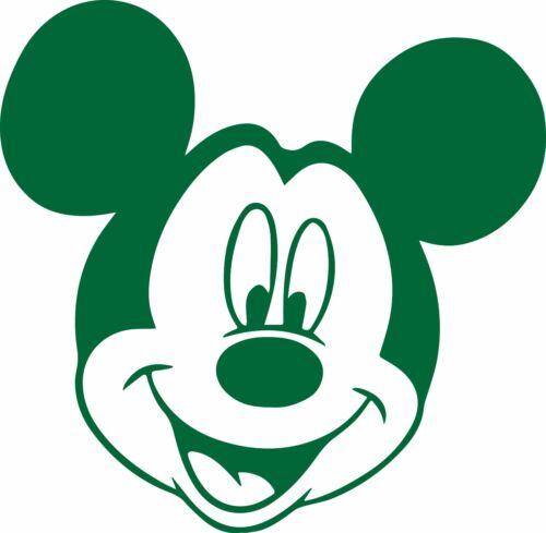Fenêtre mur Véhicule Display Mickey Mouse Contour Coupe Autocollant Vinyle Autocollant Head