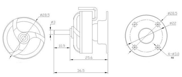 Emax Cf2805 2840kv Outrunner Brushless Motor For Airplane Cf2805